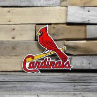 """St. Louis Cardinals Bird on Bat 12"""" Steel Logo Sign"""