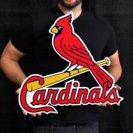 """St. Louis Cardinals Bird on Bat 24"""" Steel Logo Sign"""