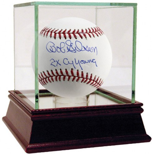 St. Louis Cardinals Bob Gibson Signed MLB Baseball w/ 2x Cy Young