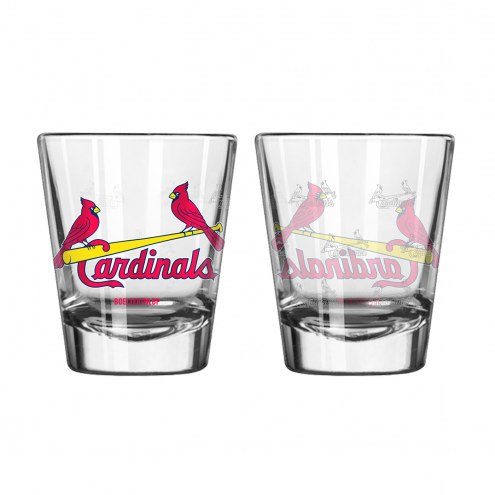 St. Louis Cardinals Satin Etch Shot Glass Set