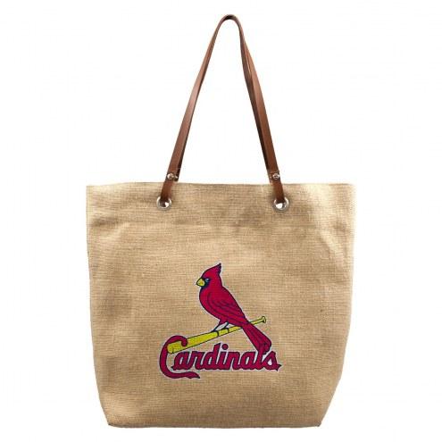 St. Louis Cardinals Burlap Market Tote