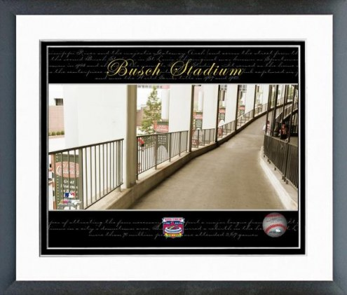 St. Louis Cardinals Busch Stadium Collectors Series #20 Framed Photo
