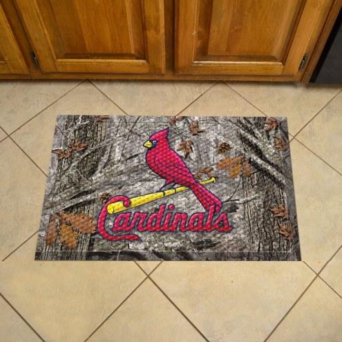 St. Louis Cardinals Camo Scraper Door Mat