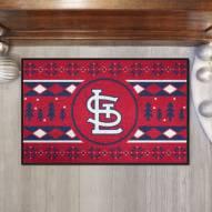 St. Louis Cardinals Christmas Sweater Starter Rug