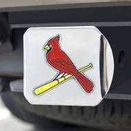 St. Louis Cardinals Chrome Color Hitch Cover