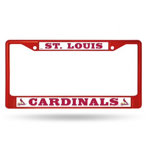 St. Louis Cardinals Colored Chrome License Plate Frame