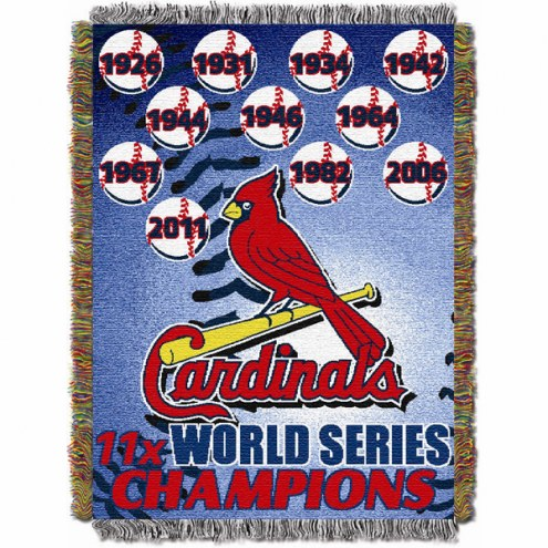 St. Louis Cardinals Commemorative Throw Blanket