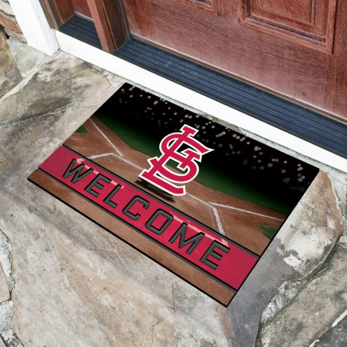 St. Louis Cardinals Crumb Rubber Door Mat