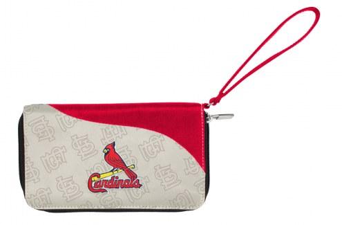 St. Louis Cardinals Curve Zip Wallet