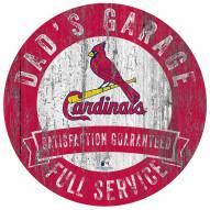 St. Louis Cardinals Dad's Garage Sign