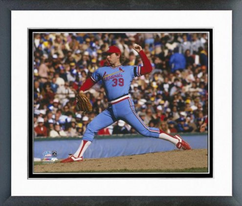 St. Louis Cardinals Dave LaPoint 1982 World Series Action Framed Photo