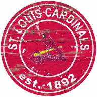 St. Louis Cardinals Distressed Round Sign