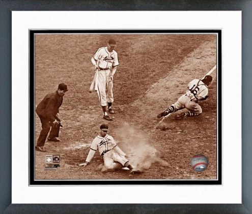"""St. Louis Cardinals Enos Slaughter's """"Mad Dash"""" Framed Photo"""