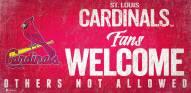 St. Louis Cardinals Fans Welcome Sign