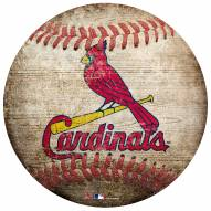 St. Louis Cardinals Baseball Shaped Sign