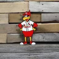 """St. Louis Cardinals Fredbird 12"""" Steel Logo Sign"""