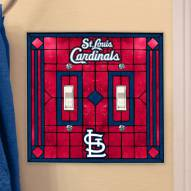 St. Louis Cardinals Glass Double Switch Plate Cover