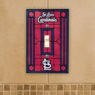St. Louis Cardinals Glass Single Light Switch Plate Cover