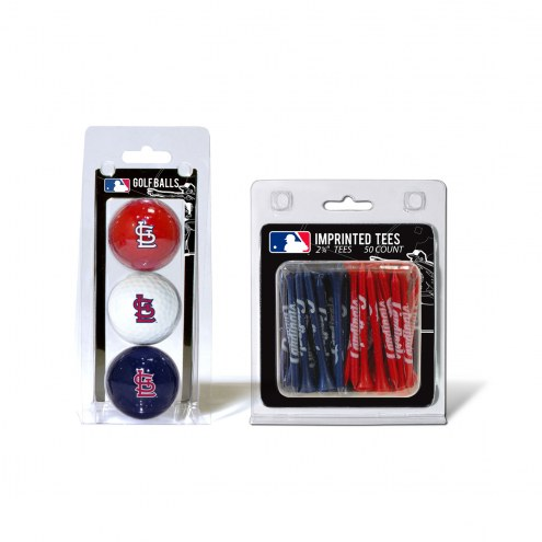 St. Louis Cardinals Golf Ball & Tee Pack