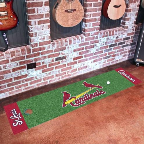 St. Louis Cardinals Golf Putting Green Mat