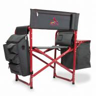 St. Louis Cardinals Gray/Red Fusion Folding Chair
