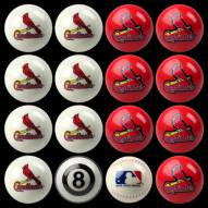 St Louis Cardinals MLB Home vs. Away Pool Ball Set