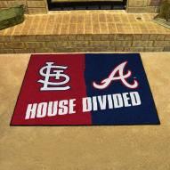 St. Louis Cardinals/Atlanta Braves House Divided Mat