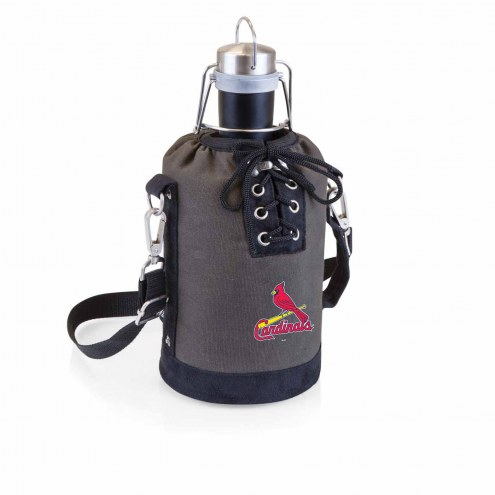 St. Louis Cardinals Insulated Growler Tote with 64 oz. Stainless Steel Growler