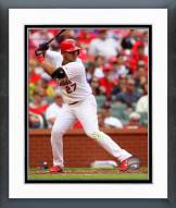 St. Louis Cardinals Jhonny Peralta Action Framed Photo