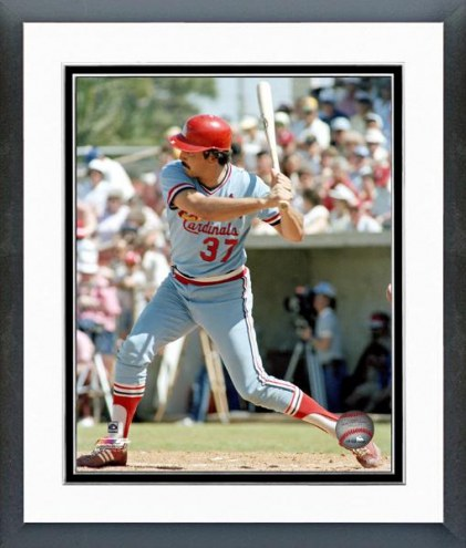 St. Louis Cardinals Keith Hernandez Action Framed Photo