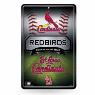 St. Louis Cardinals Large Embossed Metal Wall Sign