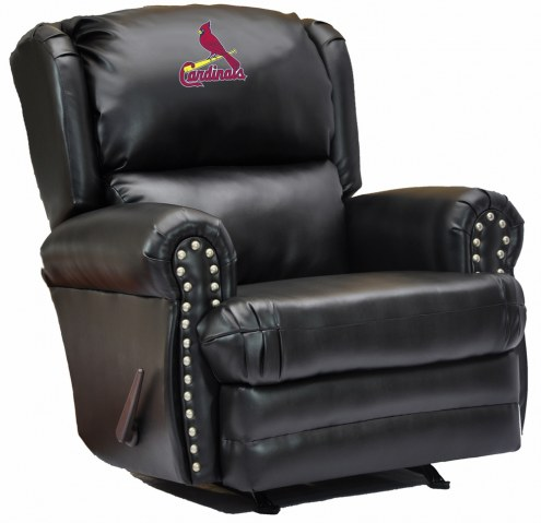 St. Louis Cardinals Leather Coach Recliner