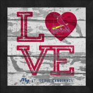 St. Louis Cardinals Love My Team Square Wall Decor