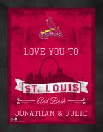 St. Louis Cardinals Love You to and Back Framed Print
