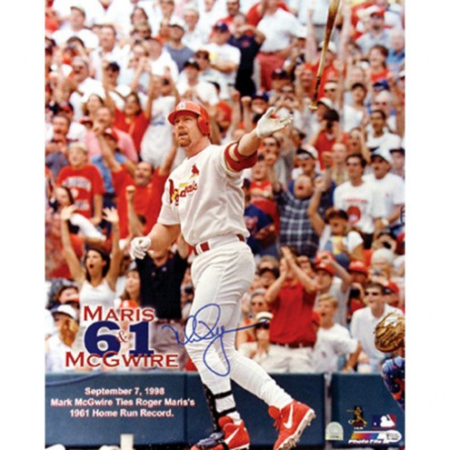 "St. Louis Cardinals Mark McGwire 61st Hr Signed 16"" x 20"" Photo"