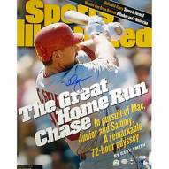 """St. Louis Cardinals Mark McGwire SI Cover Great HR Chase Signed 16"""" x 20"""" Photo"""
