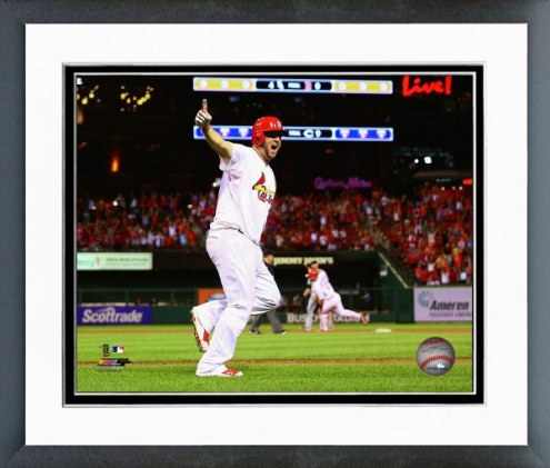 St. Louis Cardinals Matt Adams Action Framed Photo