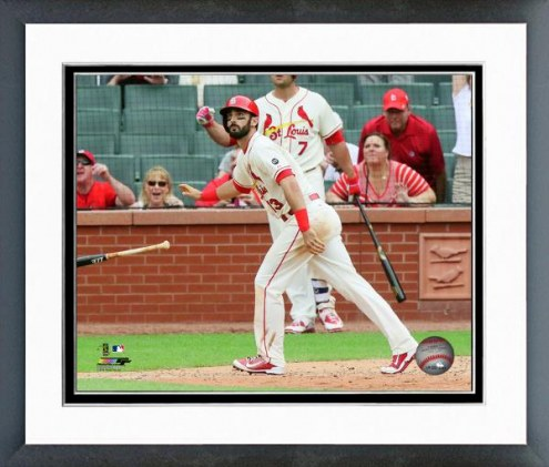 St. Louis Cardinals Matt Carpenter Action Framed Photo