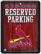 St. Louis Cardinals Metal Parking Sign