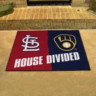 St. Louis Cardinals/Milwaukee Brewers House Divided Mat
