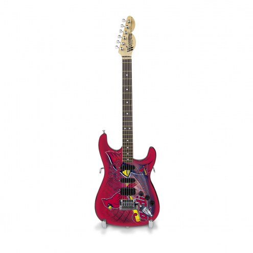 St. Louis Cardinals Mini Replica Guitar