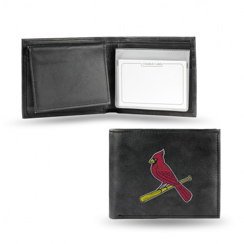 St. Louis Cardinals MLB Embroidered Leather Billfold Wallet