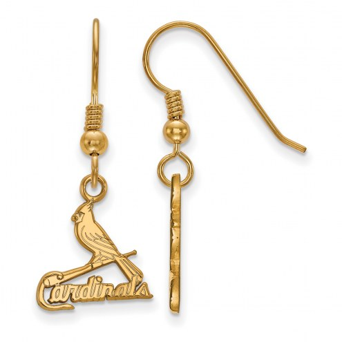 St. Louis Cardinals MLB Sterling Silver Gold Plated Small Dangle Earrings