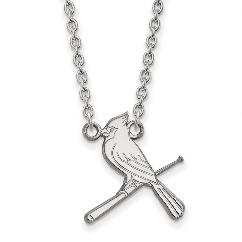 St. Louis Cardinals Sterling Silver Large Pendant Necklace