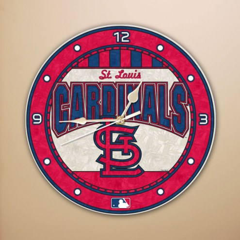 St Louis Cardinals MLB Stained Glass Wall Clock