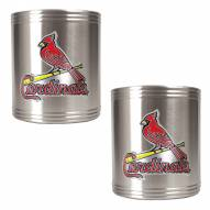 St. Louis Cardinals MLB Stainless Steel Can Holder 2-Piece Set
