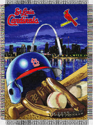 St. Louis Cardinals MLB Woven Tapestry Throw Blanket