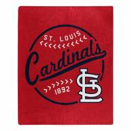 St. Louis Cardinals Moonshot Raschel Throw Blanket