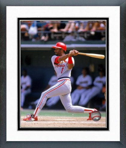 St. Louis Cardinals Ozzie Smith 1989 Action Framed Photo