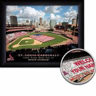 St. Louis Cardinals 11 x 14 Personalized Framed Stadium Print
